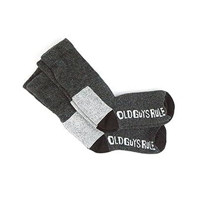 Wholesale Old Guys Rule Charcoal Wool Crew Socks 1 Pack