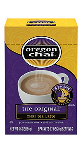 - Oregon Chai Chai Tea Latte Original Powdered Mix, 8 Packets