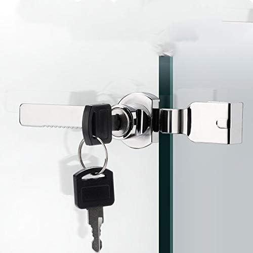 con 4 llaves Juego de 2 cerraduras de puerta de cristal corredizo