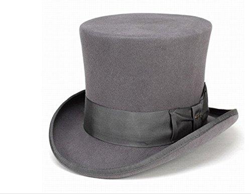 Scala Classico Men's Wool Felt Top Hat,Grey,XL