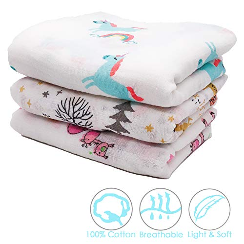 Cotton Muslin Swaddle Blankets - 47