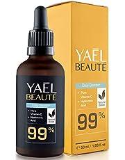 YAEL beauté Daily Booster - 99% Natuurlijk Vitamine C Serum met Hyaluronzuur - Hoge dosis Gezichtscrème - Naturel & Anti-aging crème - Bio Vegan Gezichtsserum - 50ml fles