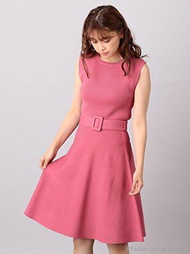MIIA (ミーア)【WEB限定】ベルト付きニットアップ B07DPV5S53 F ピンク ピンク F