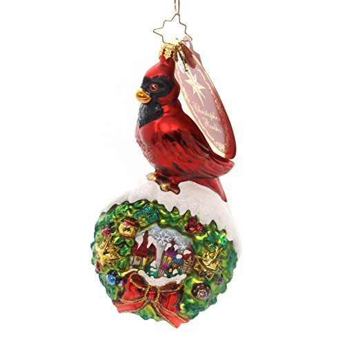 Christopher Radko Wreath & Cardinal