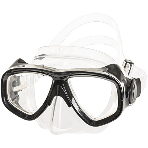 IST M80 2 Lens Snorkel Diving Mask with Optional Prescription Lenses, Low...