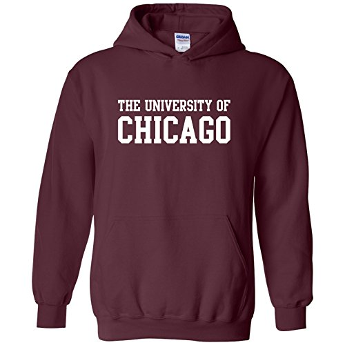 AH01 - University of Chicago Phoenix Basic Block Hoodie - Large - Maroon (Fleece University)