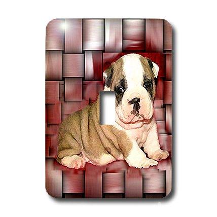 3dRose lsp_4118_1 British Bulldog Puppy Single Toggle Switch