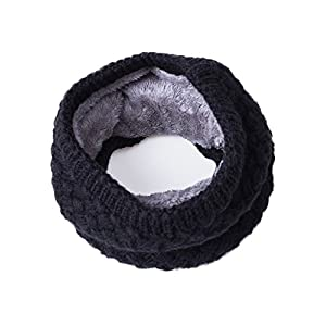 EVRFELAN Winter Infinity Scarf knit Kids Neck Warmer Chunky Soft Thick Circle Loop Scarves for Women