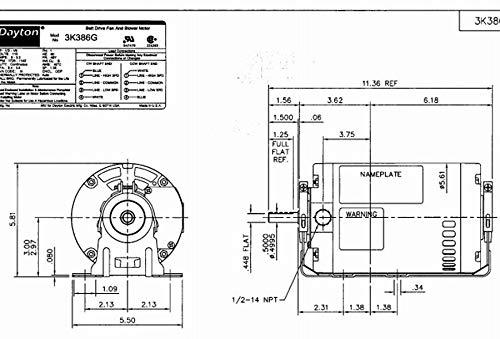 Dayton 3K386 Motor, 1/3-1/9 hp, 1725/1140 RPM, 115V: Amazon ... on