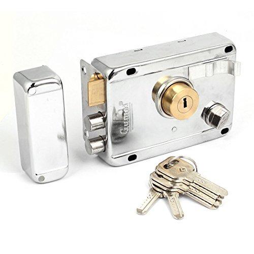 Rim Night Latch - DealMux Home Room Metal Deadbolt Rim Night Latch Door Lock Set w 5 Keys