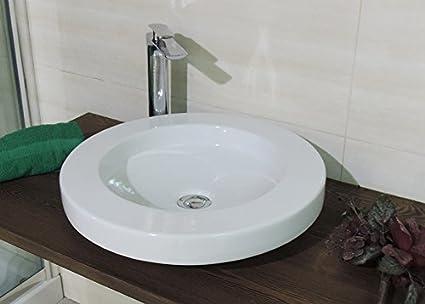 Lavabo lavandino bacinella d appoggio diametro cm art ceram