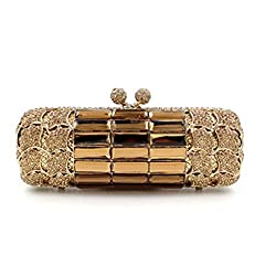 Gold Diamond Metal Women Clutches