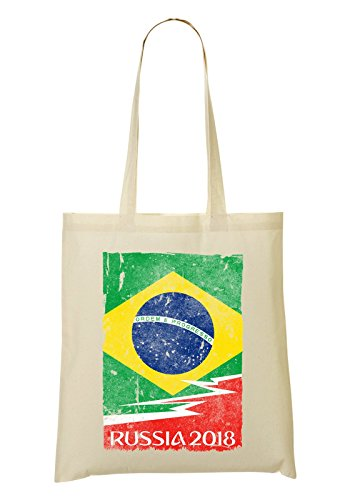 LukeTee Brazil Russia 2018 Bolso De Mano Bolsa De La Compra