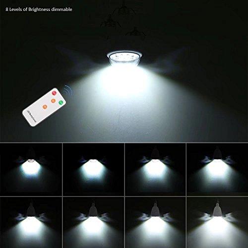 LED bombilla solar colgante E27 base 12-LED Dimmable luz al aire libre multi-funcional panel solar alimentado con control remoto para acampar ir de ...