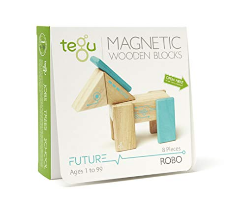 - Tegu Robo Magnetic Wooden Block Set
