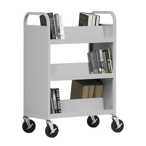 Sloping Shelves - Sandusky Lee Welded Book Truck - 37X18x48