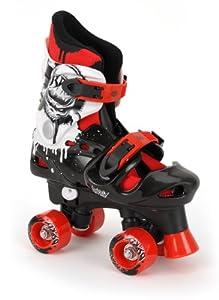 Osprey Quad Skate Rollschuhe Für Jungen, Mehrfarbig (schwarz/rot/weiß), 28-31...