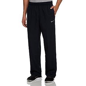 Nike Mens Stretch Woven Dri-Fit Training Pants Black Color Windpants (L)