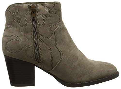 Clair Marron Femme Look New Cowboy Bottines Foot Wide w4SC0gq