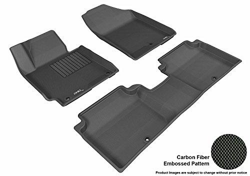 3D MAXpider Custom Fit Complete Floor Mat Set for Select Hyundai Elantra Models - Kagu Rubber (Black)