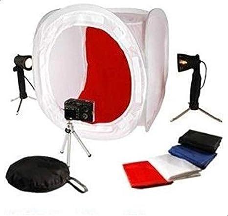 """سوفت بوكس بتصميم خيمة تصوير 24"""""""" 40×40 سم مع ضوء/حامل ثلاثي"""