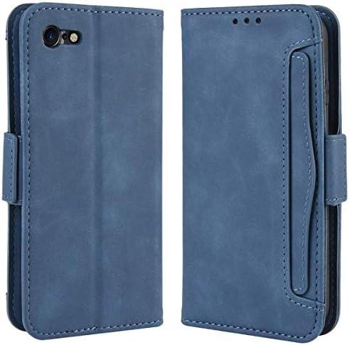 iPhone SE ケース 2020 iPhone SE ケース 第2世代 iPhone SE2 ケース iPhone8 ケース 手帳型 iPhone7 カバー 財布型 マグネット式 横置き機能 カード収納 高級PUレザー アイフォン SE2 / 7 / 8 ブルー Ayakumo sy109