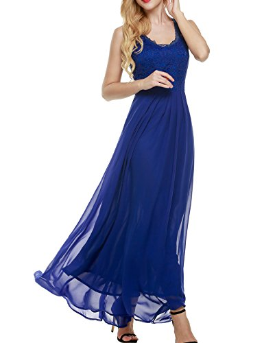 7fc975d4e9e3 ANGVNS Women's Casual Deep- V Neck Sleeveless Vintage Maxi Dress, Dark  Blue, Medium - Buy Online in Oman. | Apparel Products in Oman - See Prices,  ...