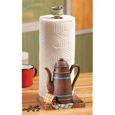 Offeepot Coffee Themed Kitchen Paper Towel Holder Kitchen Decor