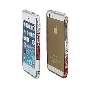 ZXSPACE iPhone 5/iPhone 5S compatible Diamond Look Bumper Frame , Black