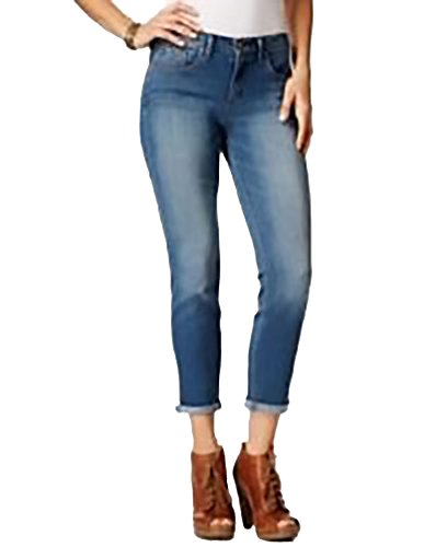 Jessica Simpson Juniors' Forever Cropped Skinny Jeans. Size: 25. Blue.