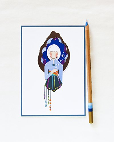Adorable SnowWoman Postcard - Disneyland Inspired Girl Character Design Illustration