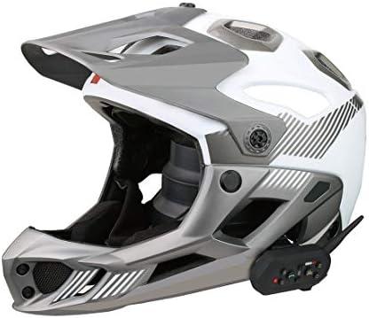 YCZLZ Business-Walkie-Talkies, Walkie-Talkie E6 1200m Leben Wasserdicht Windabweisend Bluetooth Sprechanlage-Kopfhörer for Motorrad-Sturzhelm, Max Support: Sechs Reiter
