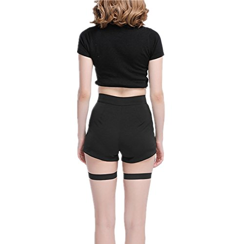 Danse Femmes Party Bandage dur Jupes Pantalons Punk Club Rock taille Jazz Shorts Tight Shorts Danse YOUMU vider Hot Sexy BI7nId