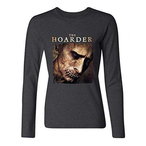 SLJD Women's The Hoarder Movie Design Long Sleeve Cotton T Shirt