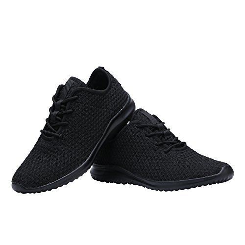 94fb3b56d6a Yilan Women s Fashion Sneakers Breathable Sport Shoes All Black-2 8.5 M US