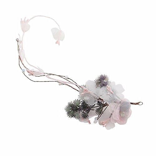 Weddwith Hair Accessories Bridal Headdress Korean Simulation Flower Turban Sweet Hair Accessories Wedding Honeymoon Accessories