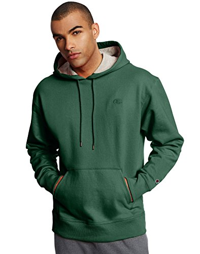 Champion Men's Powerblend Pullover Hoodie, Dark Green, Medium
