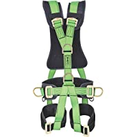 Freefall Unisex Polyester Full Body Sit Harness Climbing Safety Belt (Green)
