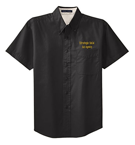 Embroidered Short Sleeve Work Shirt - 2