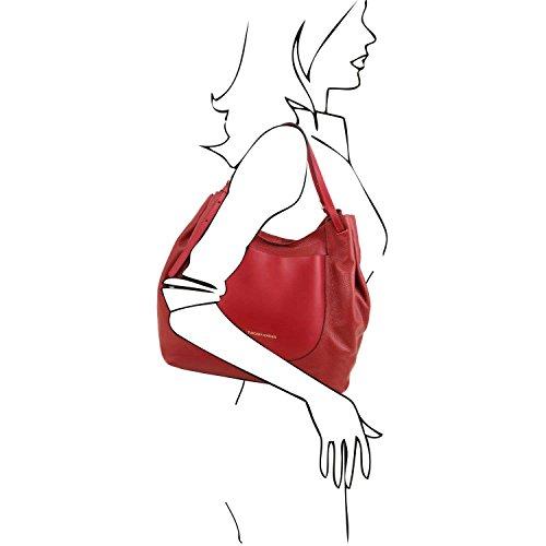 TUSCANY LEATHER - Bolso al hombro de Piel para mujer rojo rojo Taille Unique