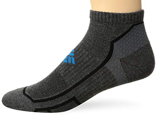 Columbia Men's Running Low Cut Sock, charcoal, large
