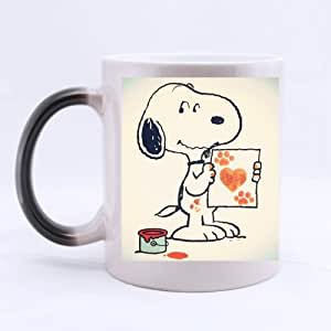 Custom Cartoon Characters Cute Snoopy Morphing Mug Cappuccino/Latte/Coffee Mug