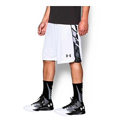 Under Armour Men's Select Basketball Shorts, White/Black, Small