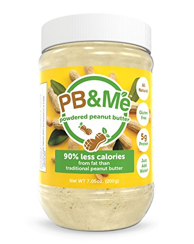 PB&Me All Natural Powdered Peanut Butter, Traditional, Gluten Free, High Protein, 7 - Peanut Pb Fit Butter Powder