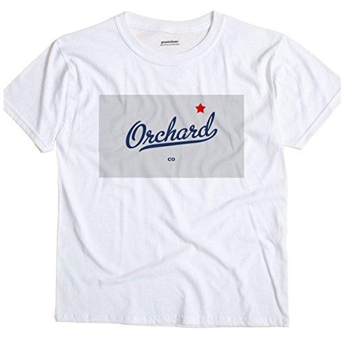 GreatCitees Orchard Colorado CO MAP Unisex Souvenir T ()
