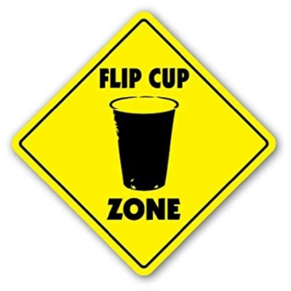 Amazoncom Oswaldo Flip Cup Zone Sign Novelty Quarters Game Drink