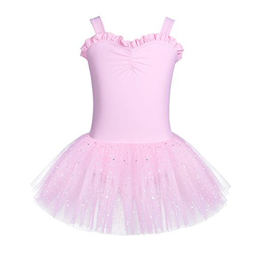 iiniim Kids Girls Shimmering Ballet Dance Tutu Dress