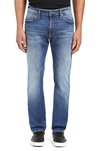 Mavi Men's Zach Straight Leg Jeans, Mid Brushed Cashmere 32 X 32