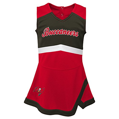 Outerstuff NFL NFL Tampa Bay Buccaneers Infant Cheer Captain Jumper Dress Red, 24 Months