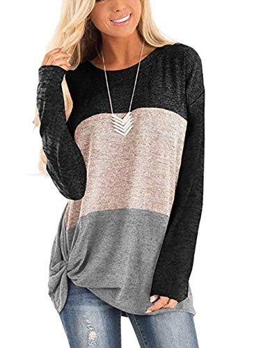 iChunhua Womens Cute Long Sleeve T Shirt Casual Blouse Tops Crewneck Sweatshirt
